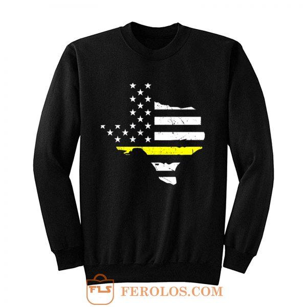 Texas 911 Dispatcher American Flag Sweatshirt