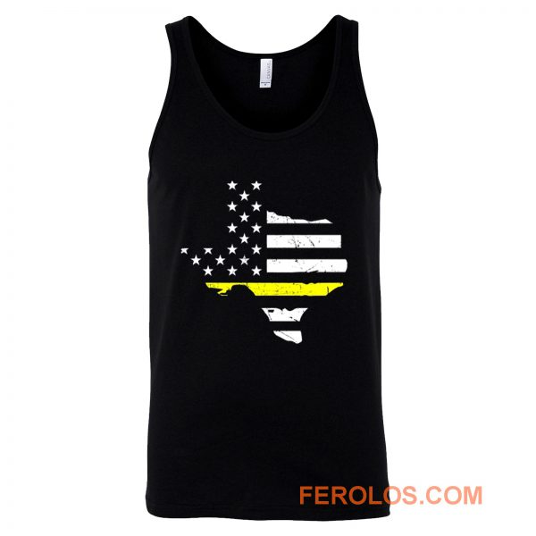 Texas 911 Dispatcher American Flag Tank Top