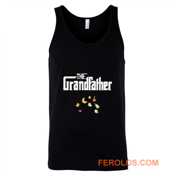 The Grandfather Granddad Baby Pregnancy Announcement First Time Grandpa Tank Top