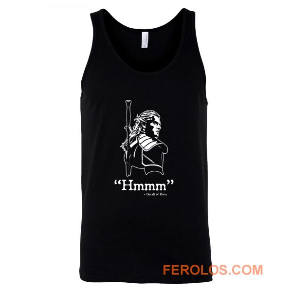 The Witcher Hmmm Geralt Of Rivia Tank Top