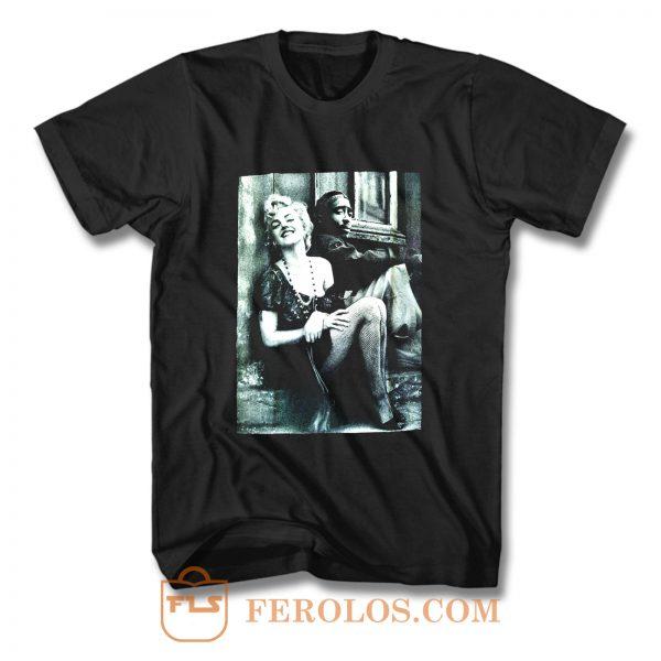 Tupac And Marilyn Monroe Couple T Shirt
