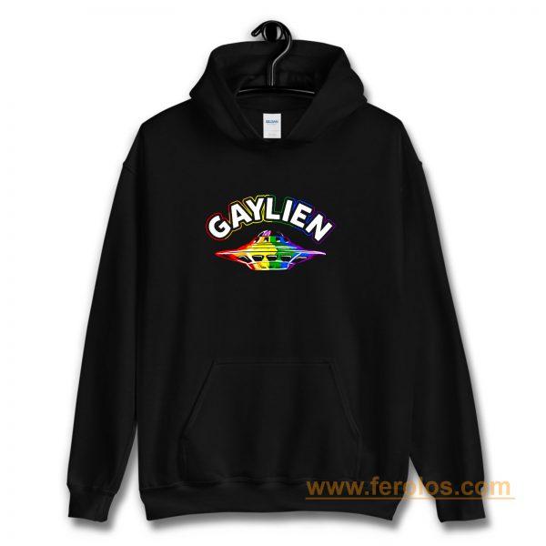 UFO Gay Pride Gaylien Funny Gay Pride Hoodie