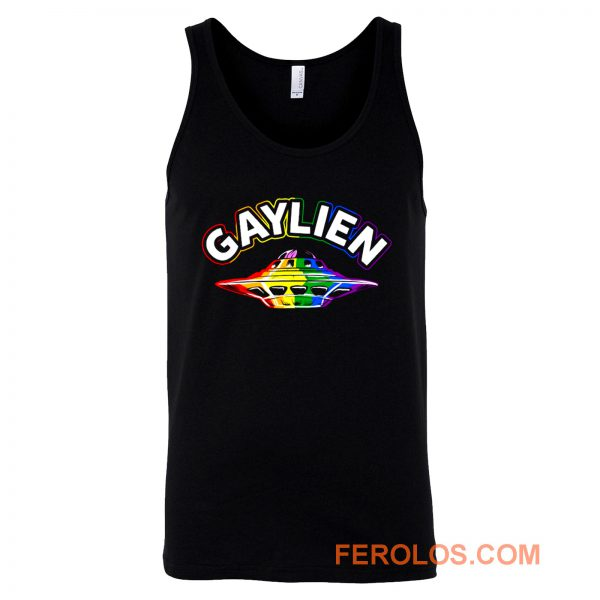 UFO Gay Pride Gaylien Funny Gay Pride Tank Top