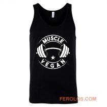 Vegan Muscle Funny Vegan Saying Vegetarian Tank Top