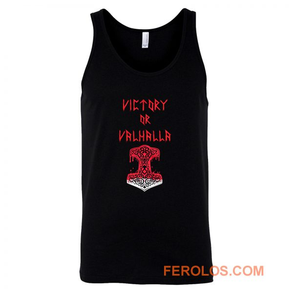 Victory or Valhalla Norse Mythology Tank Top