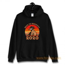 Vintage Back To Business 2020 Plague Doctor Hoodie