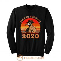 Vintage Back To Business 2020 Plague Doctor Sweatshirt