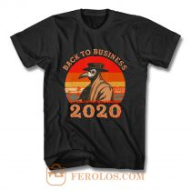 Vintage Back To Business 2020 Plague Doctor T Shirt