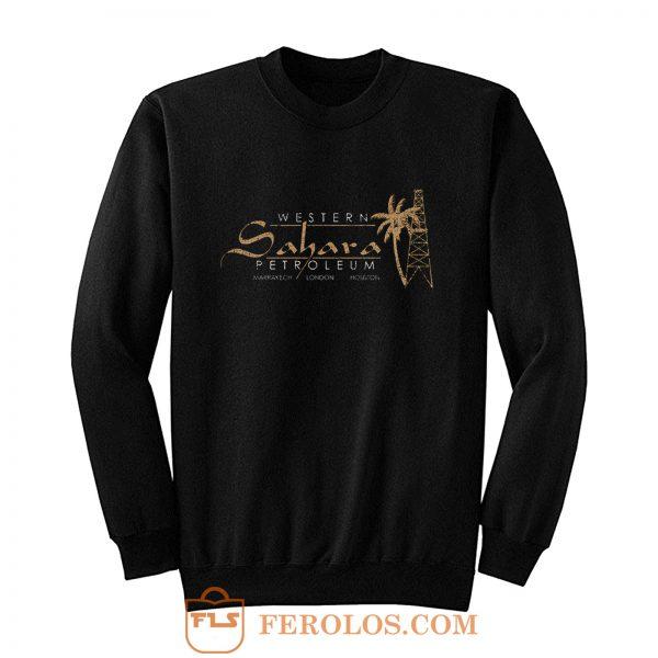 Western Sahara Petroleum distressed Sweatshirt
