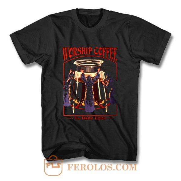 Worship Coffee Ritual Funny T Shirt
