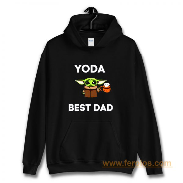 Yoda Best Dad Baby Yoda Take A Beer Funny Star Wars Parody Hoodie