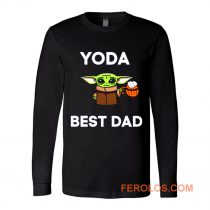 Yoda Best Dad Baby Yoda Take A Beer Funny Star Wars Parody Long Sleeve