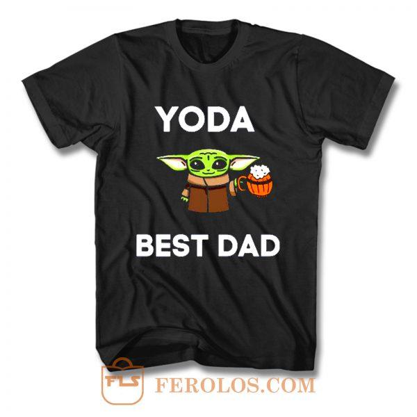 Yoda Best Dad Baby Yoda Take A Beer Funny Star Wars Parody T Shirt