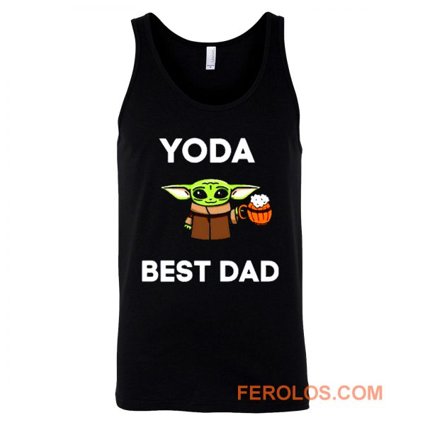 Yoda Best Dad Baby Yoda Take A Beer Funny Star Wars Parody Tank Top