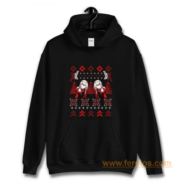 Zero Two Christmas Darling in the Franxx Hoodie