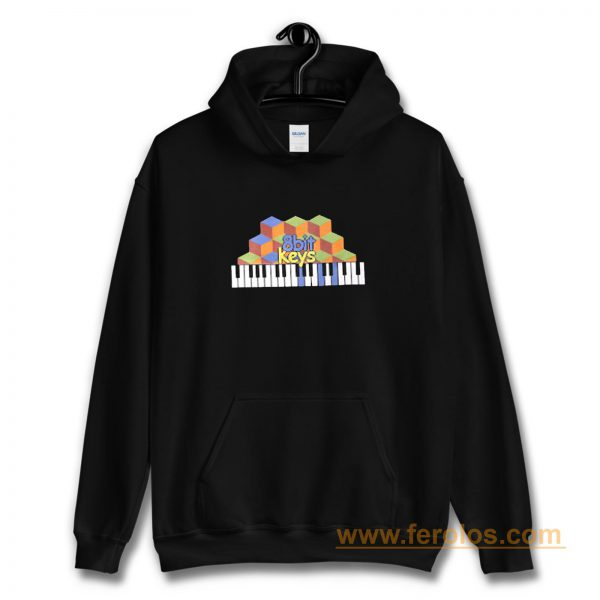 8bit Keys Piano Classic Retro Hoodie