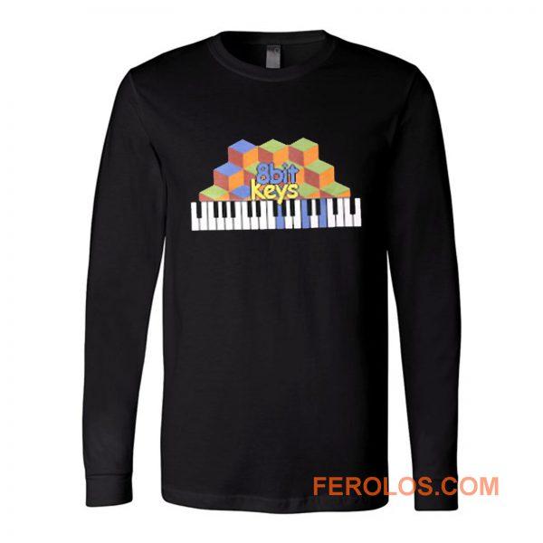 8bit Keys Piano Classic Retro Long Sleeve