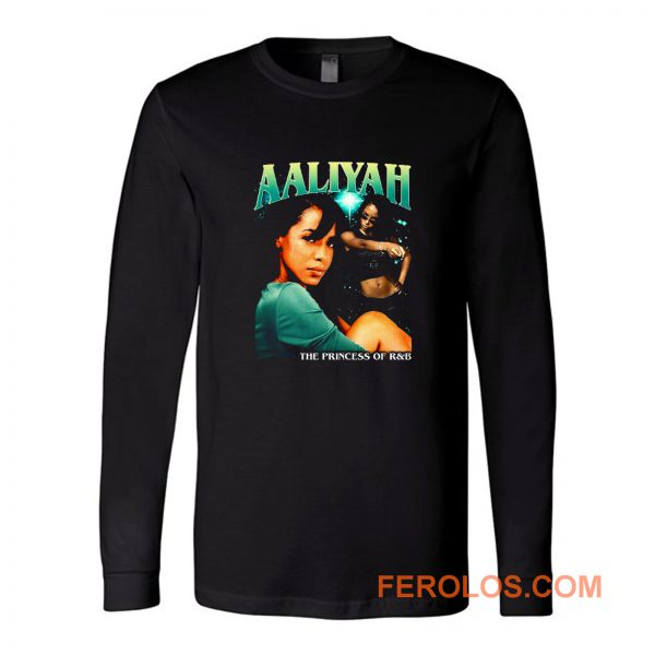 Aaliyah Cover Tour Vintage Long Sleeve