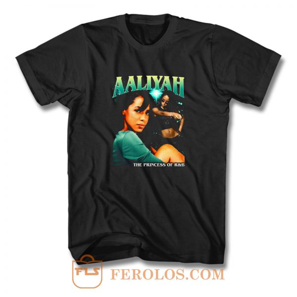 Aaliyah Cover Tour Vintage T Shirt