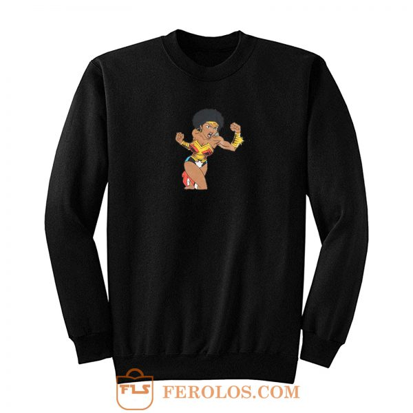 Afro Girl Wonder Woman Sweatshirt