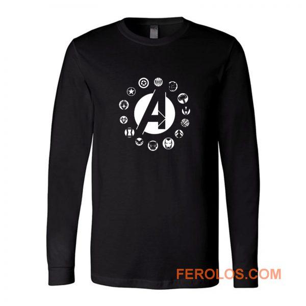 Avengers Superhero Logo Long Sleeve