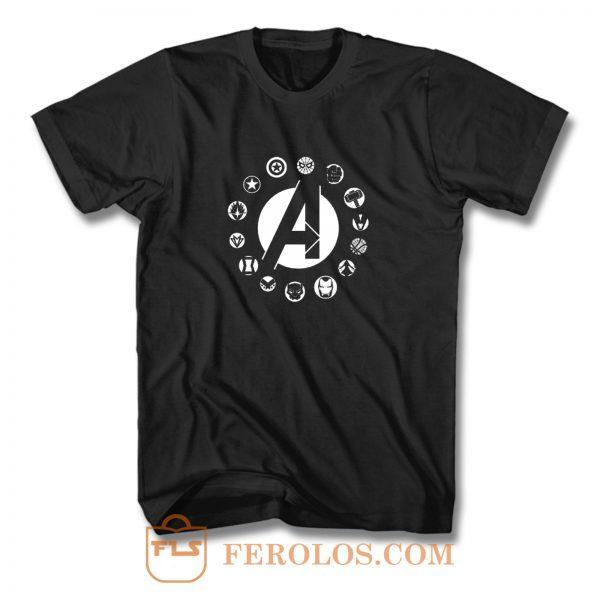 Avengers Superhero Logo T Shirt