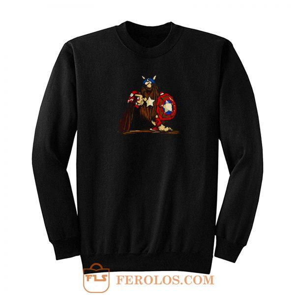 Captain Caveman Captain America Sweatshirt
