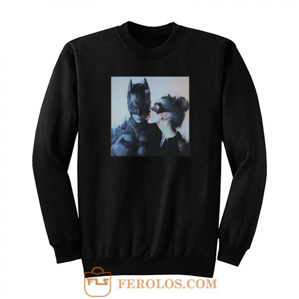 Cat Women Licking Batman Sweatshirt