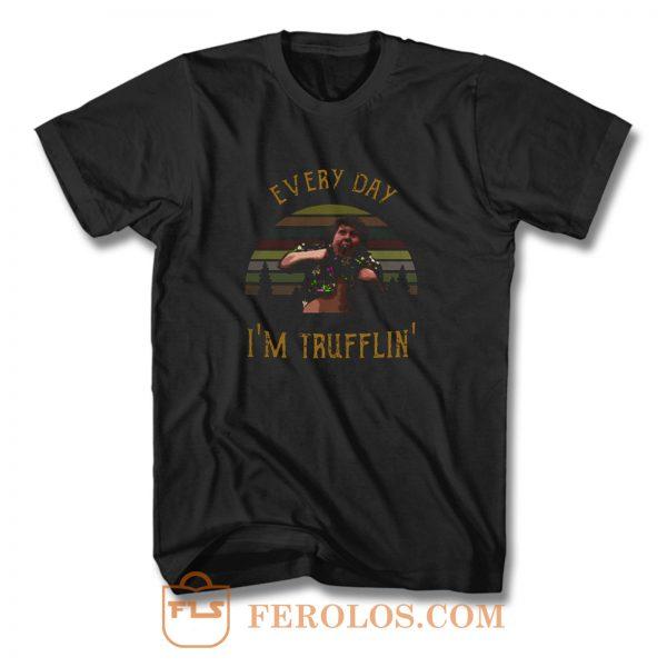 Chunk Everyday Im Trufflin Sunset T Shirt