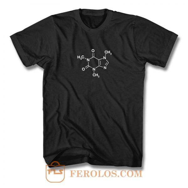 Coffee Molecul Coffee Lover T Shirt