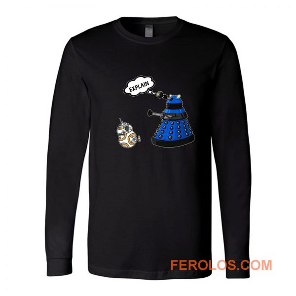 Dalek Explain Doctor Who Funny Retro Long Sleeve
