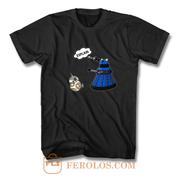 Dalek Explain Doctor Who Funny Retro T Shirt