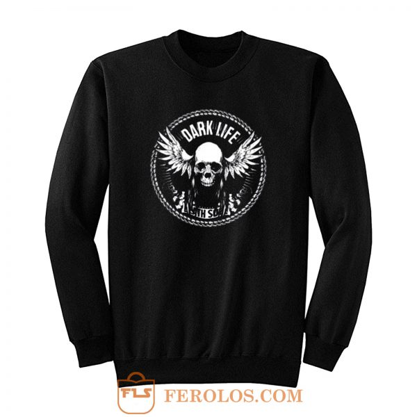 Dark Life Skull Wings Sweatshirt