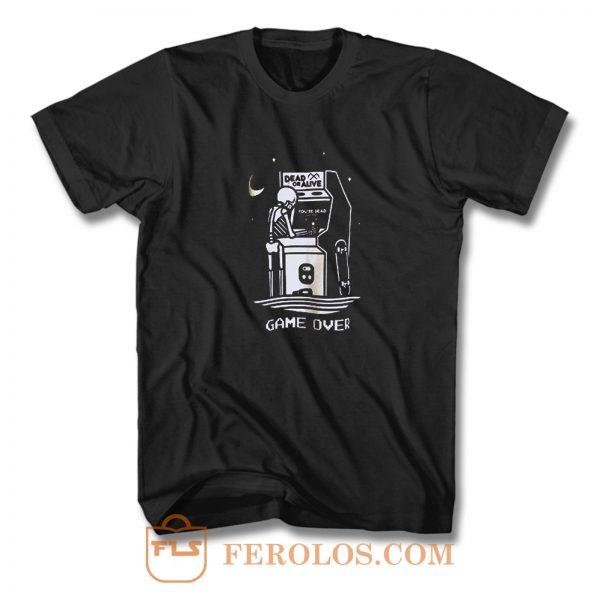 Dead Or Alive Skull Game Over T Shirt