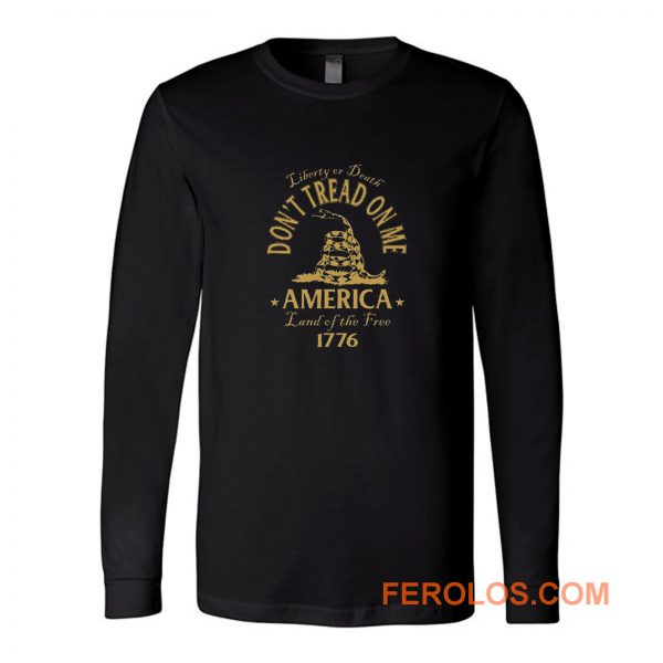 Dont Tread On Me Gadsden Snake Flag Long Sleeve