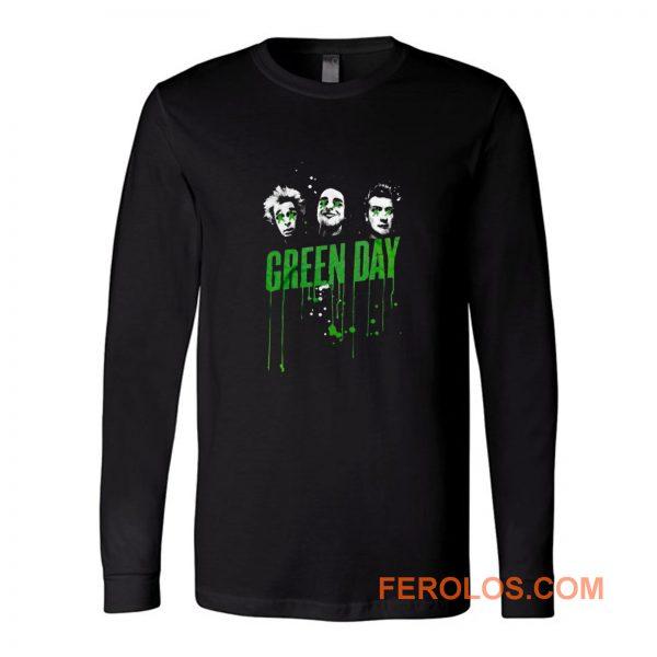 Drips Green Day Band Long Sleeve