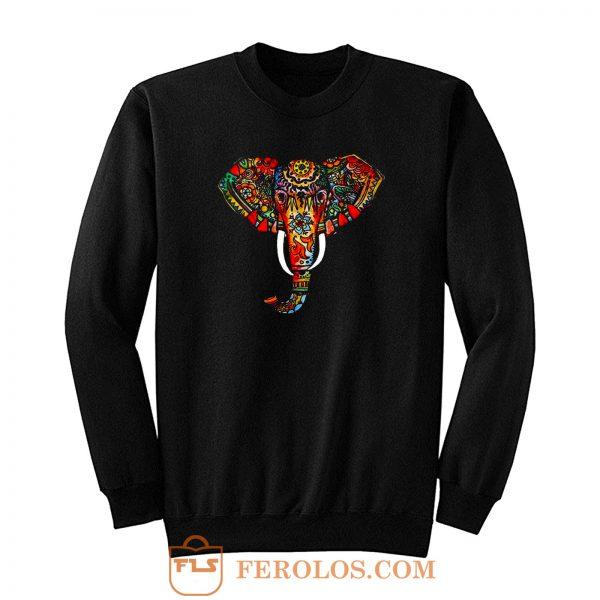Elephant Ethnic Sweatshirt