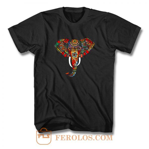 Elephant Ethnic T Shirt