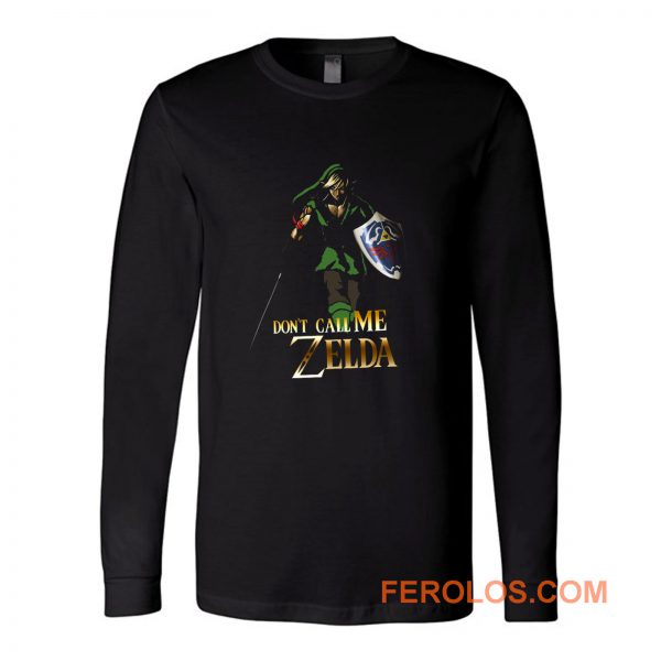 Elf Green Warrior Dont Call Me Zelda Anime Long Sleeve