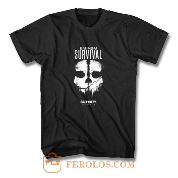 Eminem Survival Call Of Duty Rap Game T Shirt