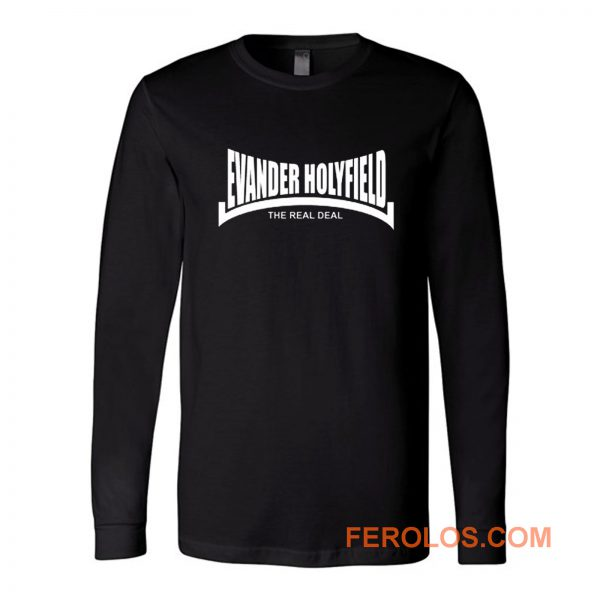 Evander Holyfield The Real Deal Boxing Long Sleeve