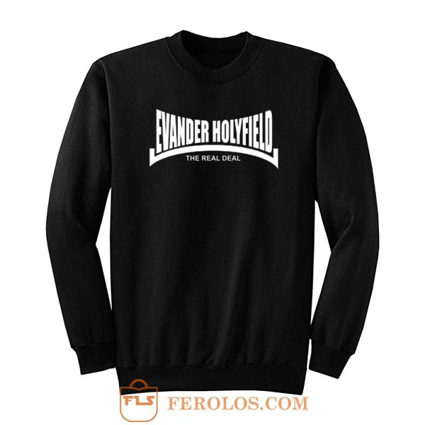Evander Holyfield The Real Deal Boxing Sweatshirt