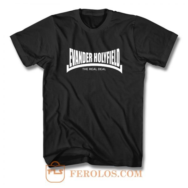 Evander Holyfield The Real Deal Boxing T Shirt