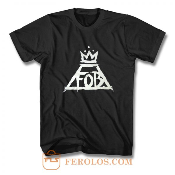 Fall Out Boy Fob Crown Rock Band T Shirt