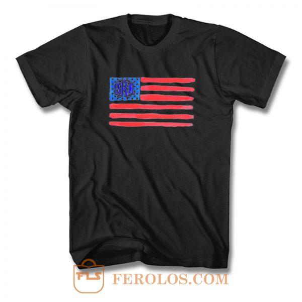 Flag Monogram T Shirt