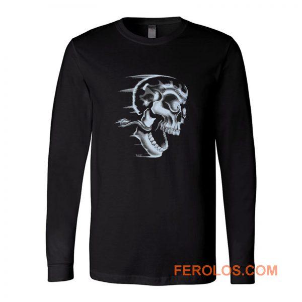 Flaming Skull Long Sleeve