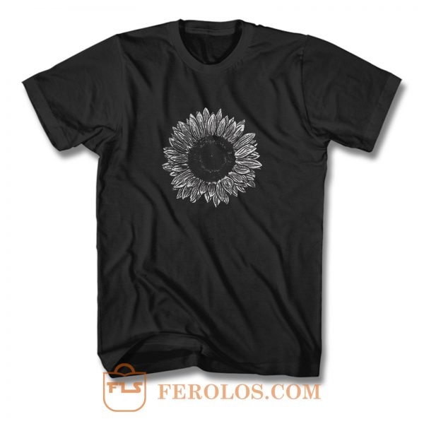 Flower Sketch T Shirt