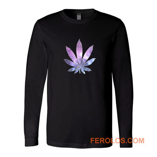 Galaxy Marijuana Leaf Long Sleeve