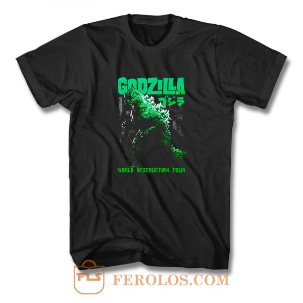 Godzilla World Destruction T Shirt