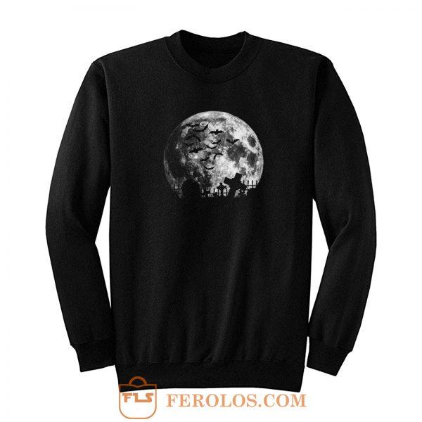 Graveyard On The Night Halloween Sweatshirt